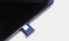 iPhoneのSIMカードアップ